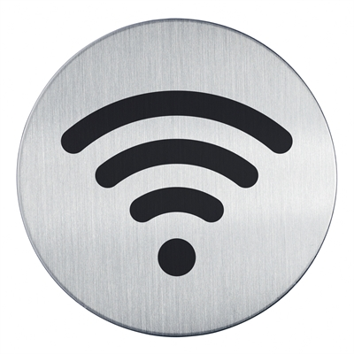 WIFI skylt - Runt pictogram