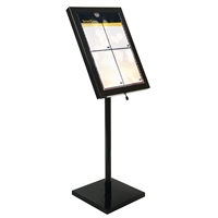 Black Star Weather Resistant LED menustand med ljus