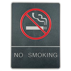 no smoking skylt