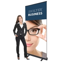BUSINESS Svart rollup inkl. tryck - 85 x 200 cm
